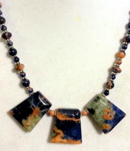 Orange Sodalite Necklace