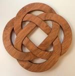 Celtic Knot Wood Trivet