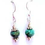 African Turquoise Earrings