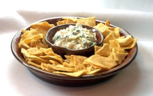 chip and dip w spinach artichoke dip