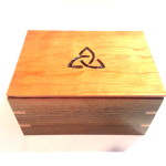 Wood Box with Trinity Design