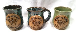 Custom Logo hand made stoneware mug with and without handle