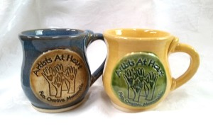 Custom Logo hand made stoneware mug with handle